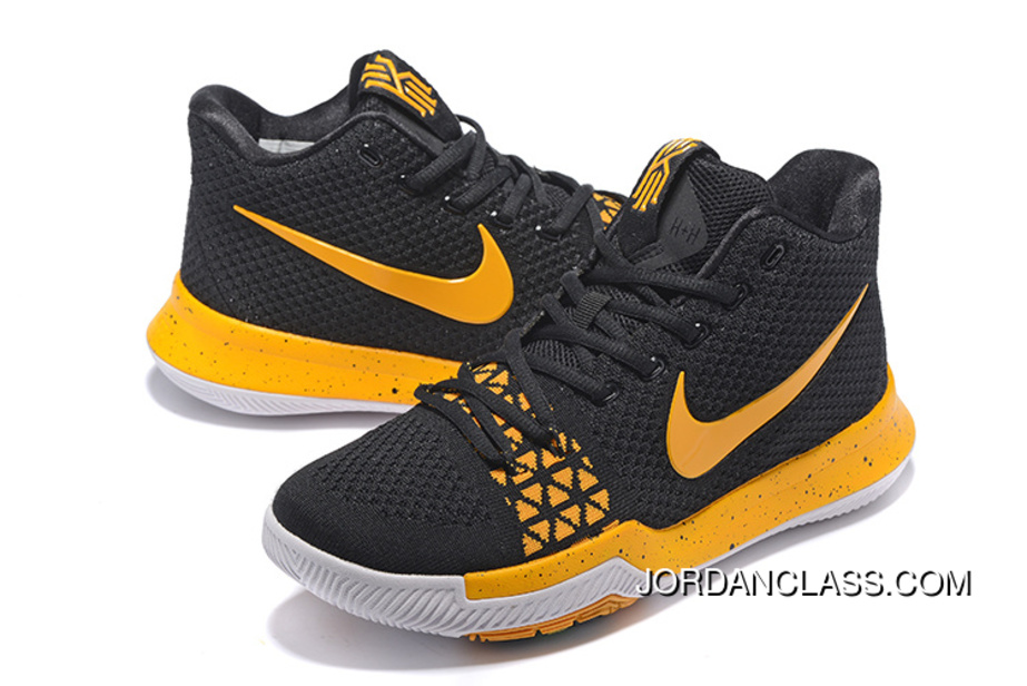 low priced a8b13 9e751 Nike Kyrie 3 Black Yellow Men's Basketball Shoes Best, Price: $95.18 ...