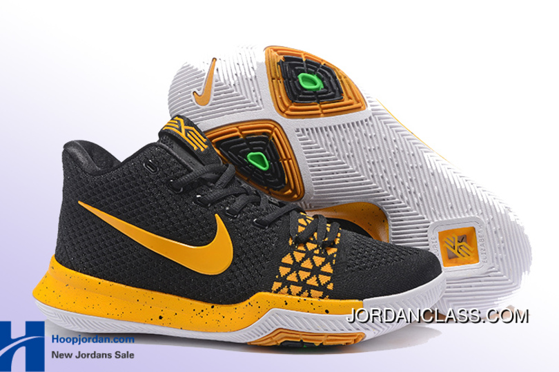 028de3b13bb856 ... coupon code nike kyrie 3 black yellow mens basketball shoes best 1ff12  33444