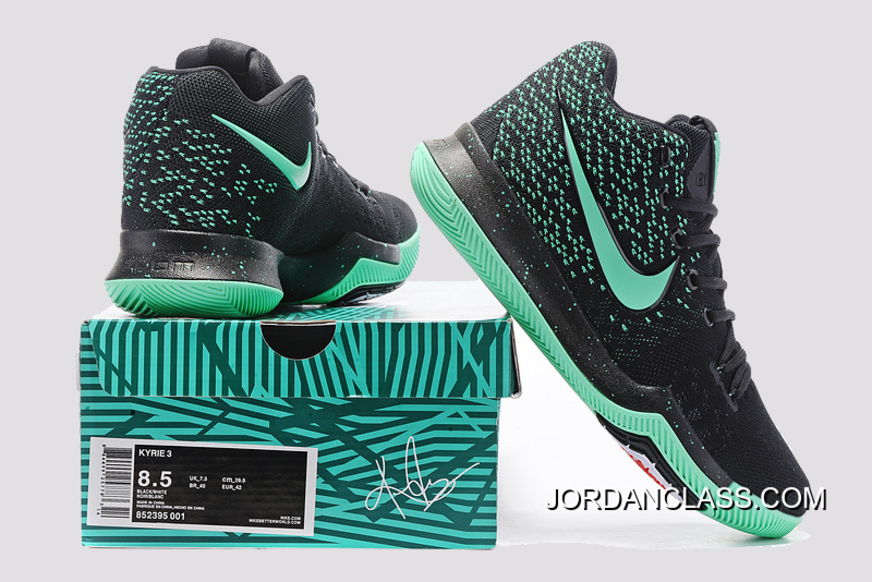 cc651a280ff Nike Kyrie 3 Green Black PE Men s Basketball Shoes For Sale