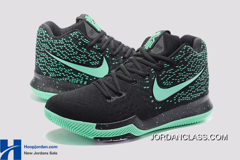 4c4c0be17b9a Nike Kyrie 3 Green Black PE Men s Basketball Shoes For Sale