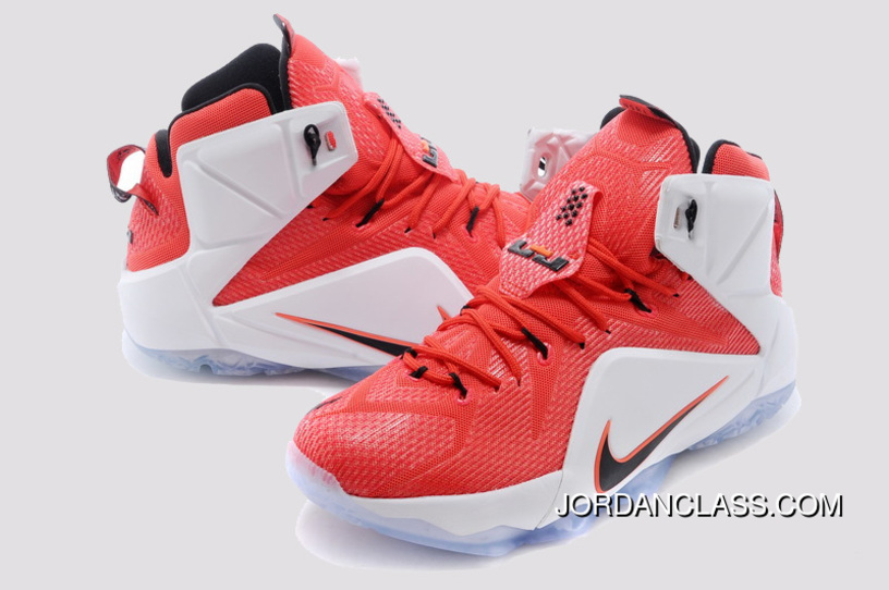 e316604ee3f 2014  Heart Of A Lion  Nike LeBron 12 University Red Black-White ...