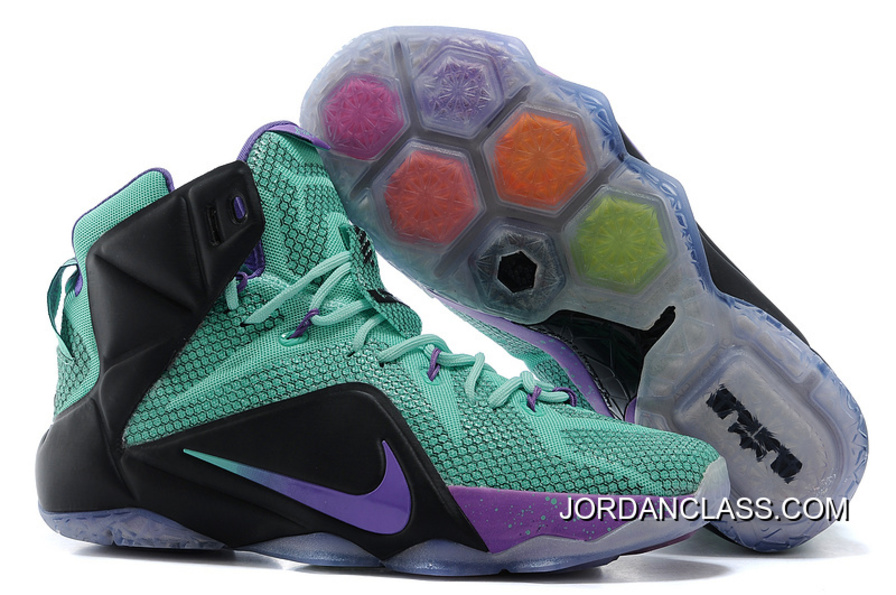 2e638c602560 2015 Nike LeBron 12 Teal Court Purple-Black Top Deals