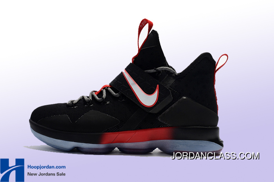 lebron 14 black and red