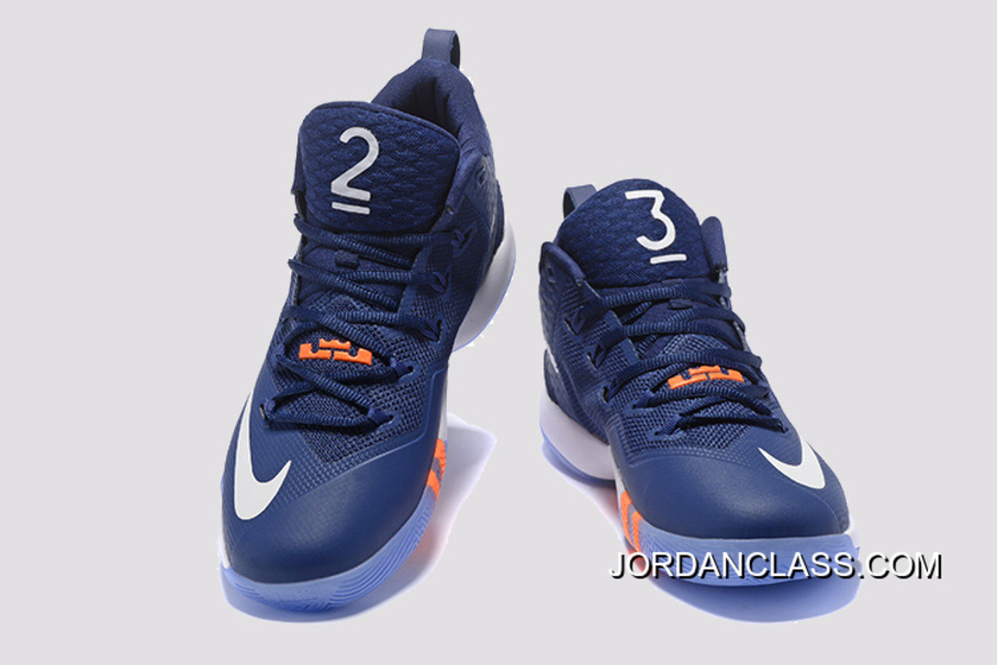 newest collection b1074 bb87b Nike LeBron Ambassador 9 Navy Blue White Orange Online, Price ...