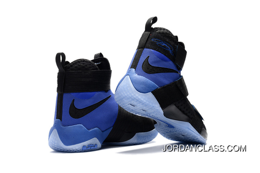 "official photos b3fcf d25f8 Nike LeBron Soldier 10 SFG ""Game Royal"" Black Blue Discount"