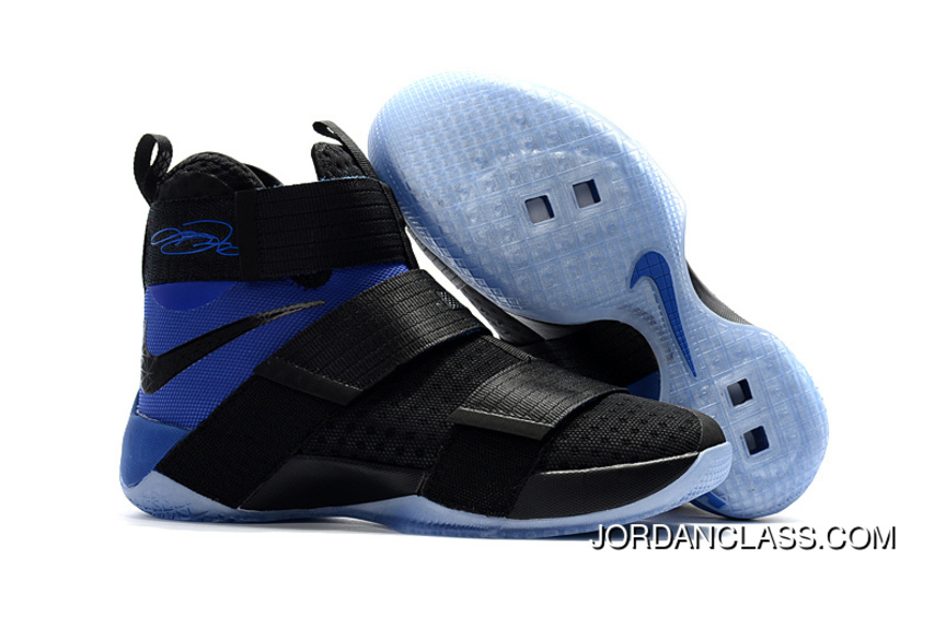 "official photos 06120 5cf76 Nike LeBron Soldier 10 SFG ""Game Royal"" Black Blue Discount"