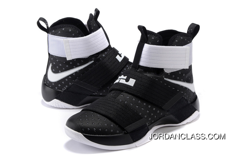 9734c40eac7 Nike Zoom LeBron Soldier 10 Black White-Metallic Silver Top Deals ...