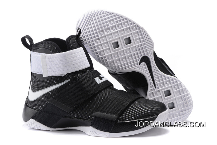 bc59acc431f Nike Zoom LeBron Soldier 10 Black/White-Metallic Silver Top Deals ...