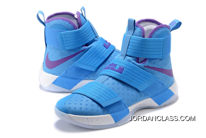 pretty nice 2b96c 73f2b Nike Zoom LeBron Soldier 10 Blue Purple White Super Deals