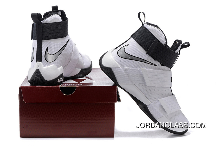 7a1b5e6e647 Nike Zoom LeBron Soldier 10 White-Black Metallic Silver New Style ...
