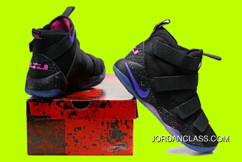 a2b0f19ca7e4 Cheap Nike LeBron Soldier 11  Galaxy  Black Purple Pink Sale Best ...