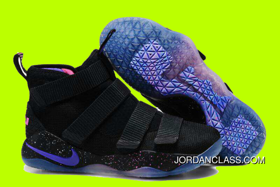 pretty nice bf7a1 4d4c2 Cheap Nike LeBron Soldier 11  Galaxy  Black Purple Pink Sale Best