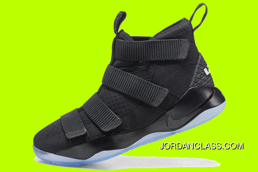 "2cbd74e325d4 Cheap Nike LeBron Soldier 11 ""Prototype"" Black Black-Ice Blue Sale Free"