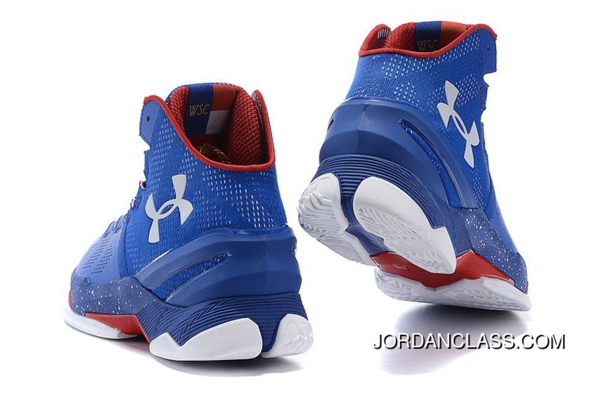 54ac97362d2 Providence Road  Under Armour Curry 2 Blue – White Red Top Deals ...