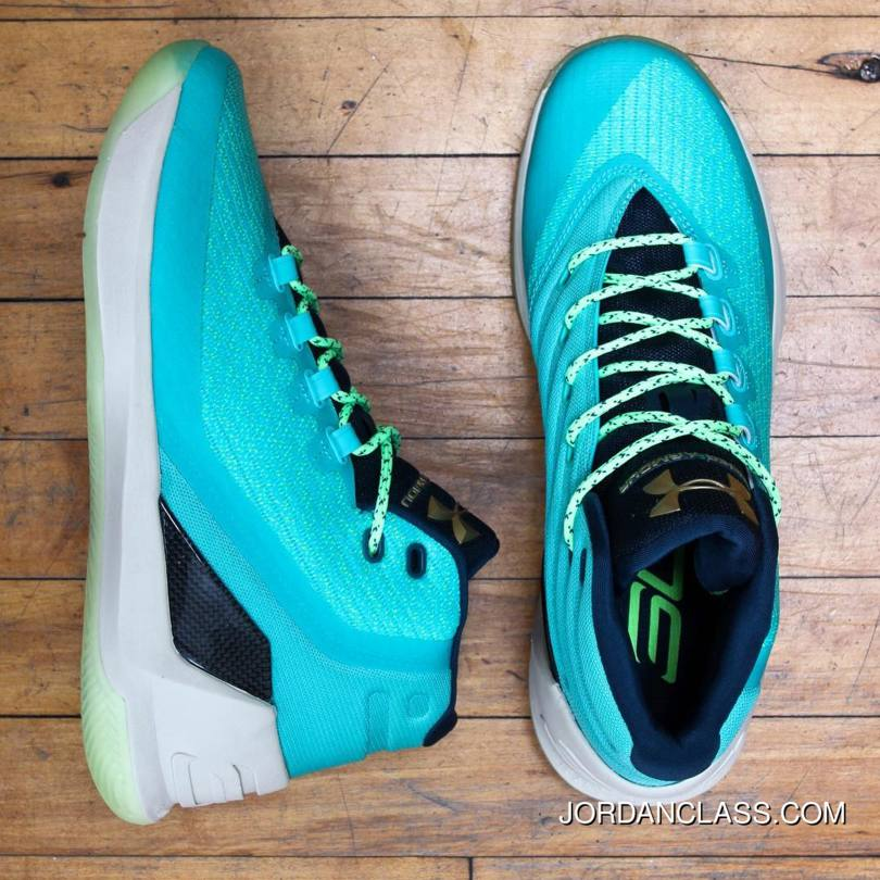 wholesale dealer 9db7e 0e679 2016 'Reign Water' Under Armour Curry 3 Neptune/Sable-Metallic Gold Best