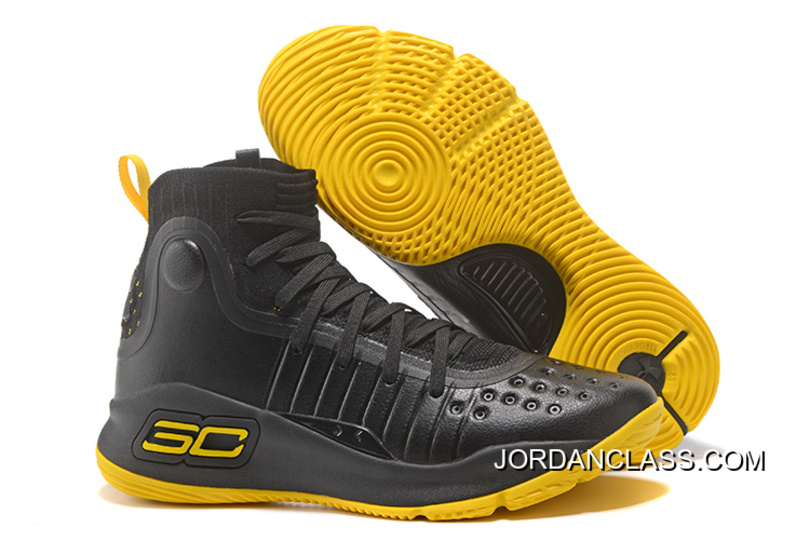01b25f92cdb Under Armour Curry 4 Basketball Shoes Black Yellow Best